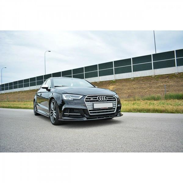 Front Ansatz passend für V.1 Audi S3 8V Facelift schwarz Hochglanz