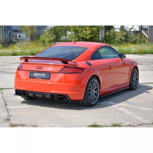 Heck Ansatz Flaps Diffusor passend für Audi TT Mk3 (8S) RS schwarz matt