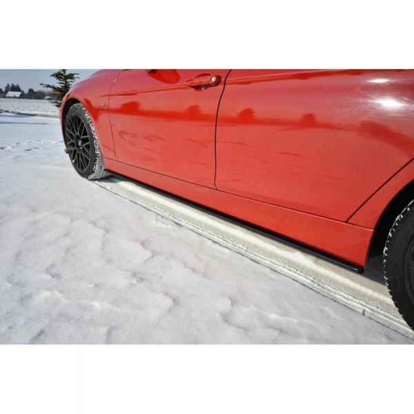 Seitenschweller Ansatz passend für BMW 3er F30 schwarz Hochglanz