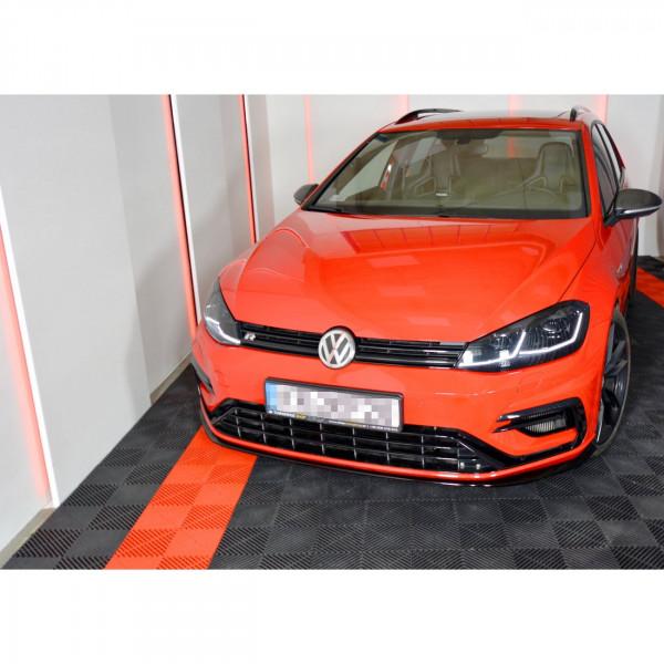 Front Ansatz passend für V.7 VW GOLF 7 R FACELIFT schwarz matt