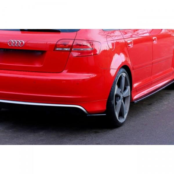 Heck Ansatz Flaps Diffusor passend für Audi RS3 8P Carbon Look