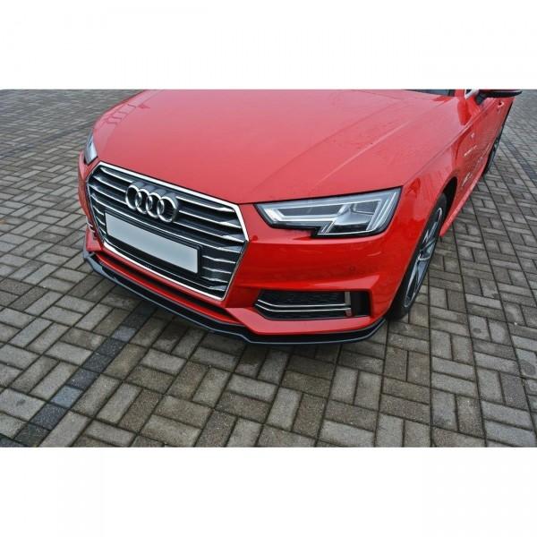 Front Ansatz passend für V.1 Audi A4 B9 S-Line schwarz Hochglanz