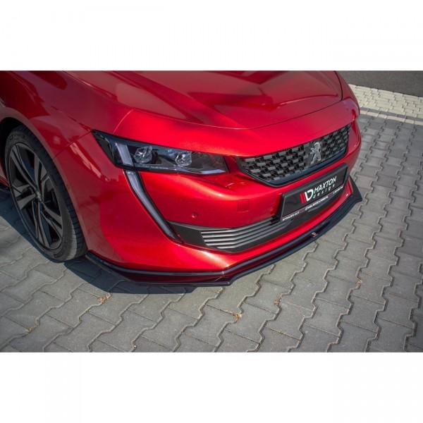 Front Ansatz passend für V.2 Peugeot 508 Mk2 schwarz Hochglanz