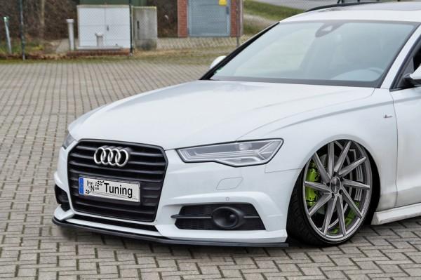 Cup Frontspoilerlippe aus ABS hochglanz schwarz Audi A6 + S6, 4G, C7 ab Bj.: 2014- Limousine + Avant