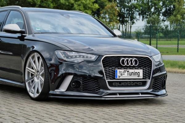 Cup Frontspoilerlippe aus ABS hochglanz schwarz Audi RS6,4G, C7 ab Bj.: 2013 - Avant