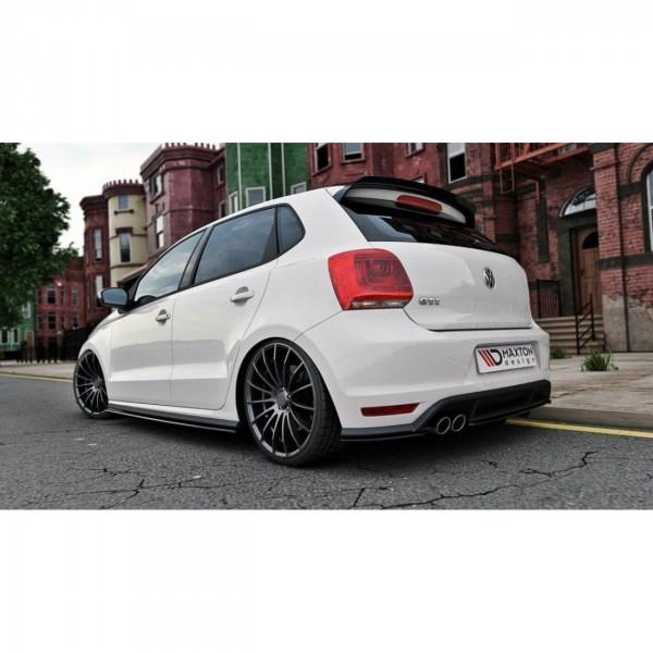 Seitenschweller Ansatz passend für VW POLO MK5 GTI Facelift schwarz matt