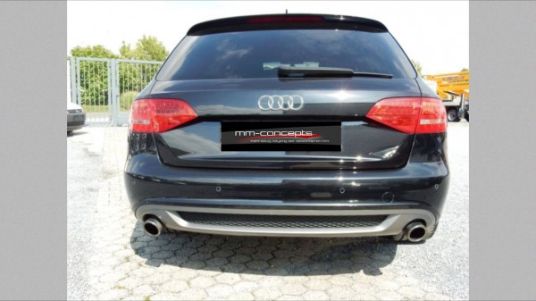 Diffusor für Audi A4 8K B8 Spoiler Heckansatz Limousine Avant S-Line ALR Schürze-Copy