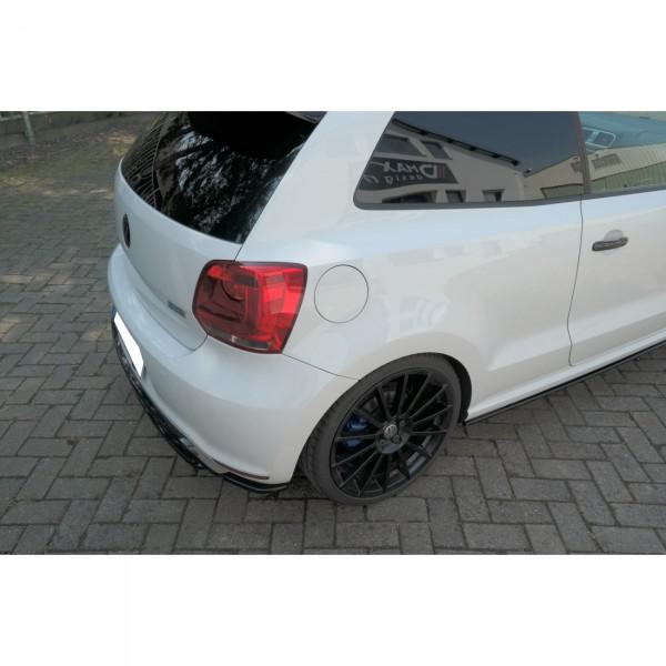 Heck Ansatz Flaps Diffusor passend für VOLKSWAGEN POLO MK5 R WRC Carbon Look