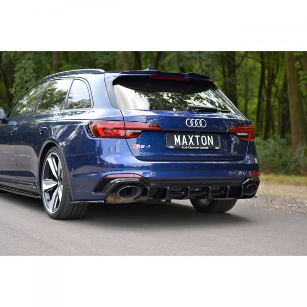 Diffusor Heck Ansatz passend für AUDI RS4 B9 AVANT Carbon Look