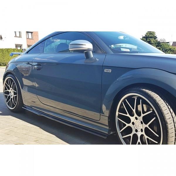 Seitenschweller Ansatz passend für Audi TT S Mk2 (8J) schwarz matt
