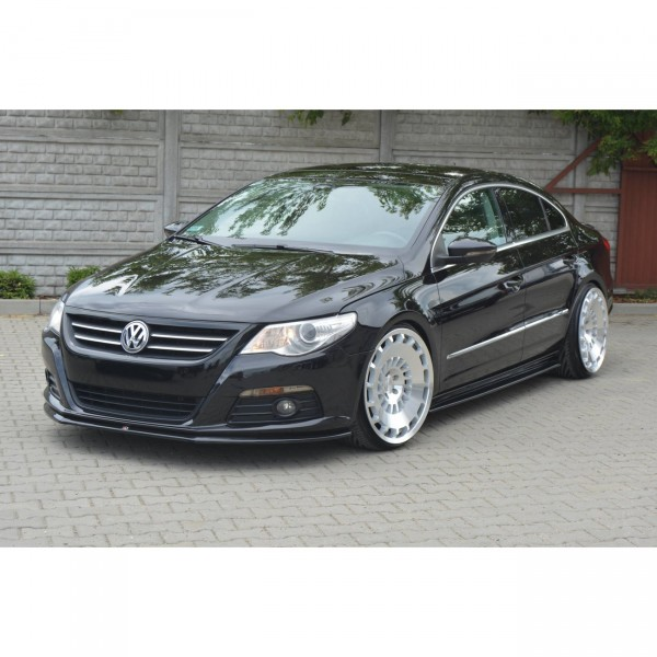 Front Ansatz passend für V.2 VW PASSAT CC STANDARD schwarz matt
