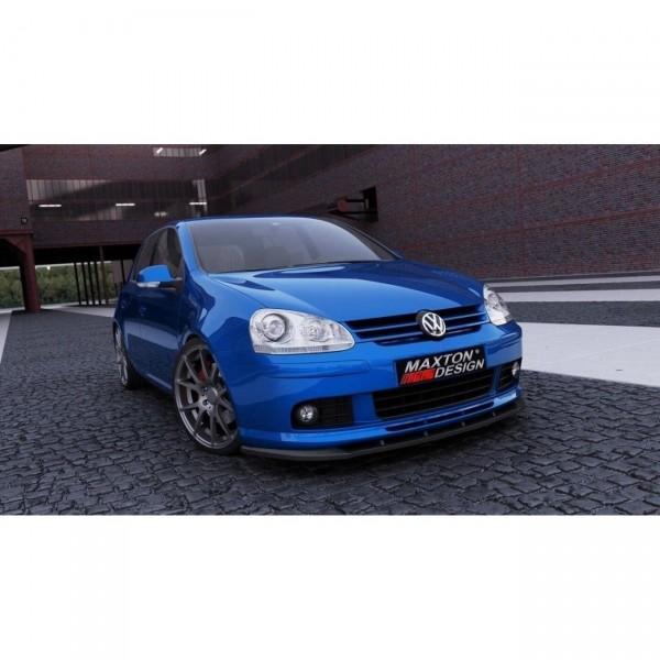 Front Ansatz passend für VW GOLF 5 (FÜR VOTEX Frontschürze passend für ) Carbon Look