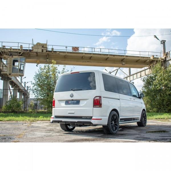 Diffusor Heck Ansatz passend für Volkswagen T6 schwarz Hochglanz