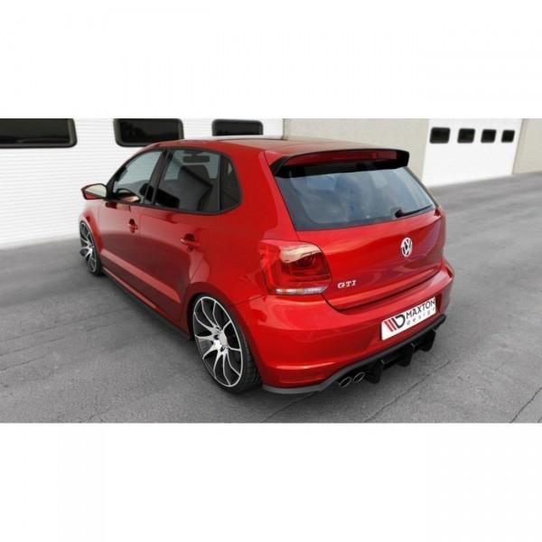 Diffusor Heck Ansatz passend für Heckschürze passend für VW POLO MK5 GTI Facelift