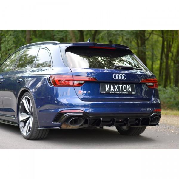 Spoiler CAP passend für AUDI RS4 B9 AVANT Carbon Look