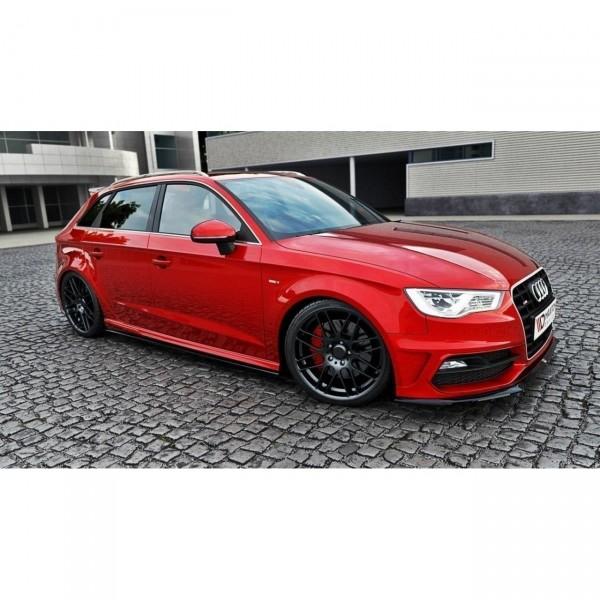 Seitenschweller Ansatz passend für Audi S3 8V Sportback / AUDI A3 8V SLINE schwarz matt