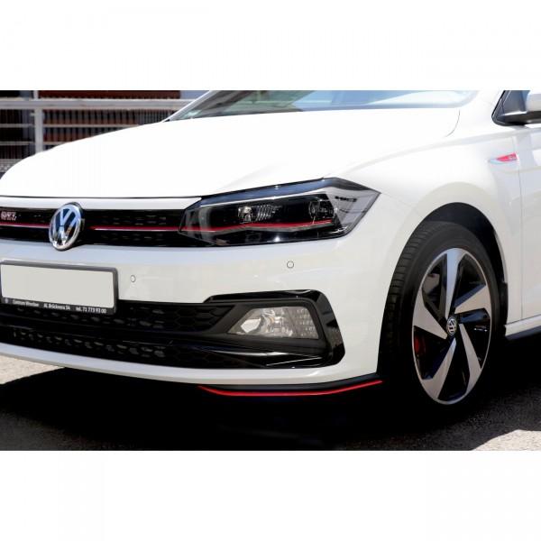 Front Ansatz passend für V.5 VW POLO MK6 GTI schwarz matt