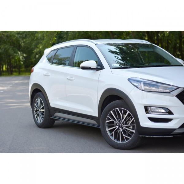 Seitenschweller Ansatz passend für Hyundai Tucson Mk3 Facelift Carbon Look