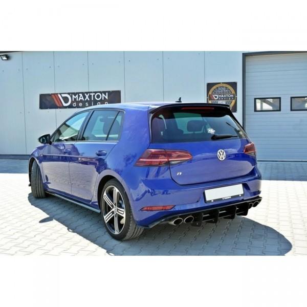 Spoiler CAP passend für VW GOLF 7 R/ GTI Facelift schwarz Hochglanz