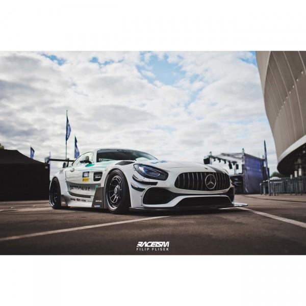 Breitbau Bodykit passend für + SET OF SPLITTERS MERCEDES-AMG GTS FACELIFT