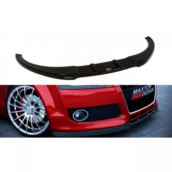 Front Ansatz passend für AUDI TT MK2 für Serie schwarz Hochglanz