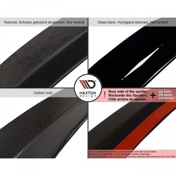 Spoiler CAP passend für SKODA OCTAVIA III RS PREFACE/FACELIFT schwarz matt