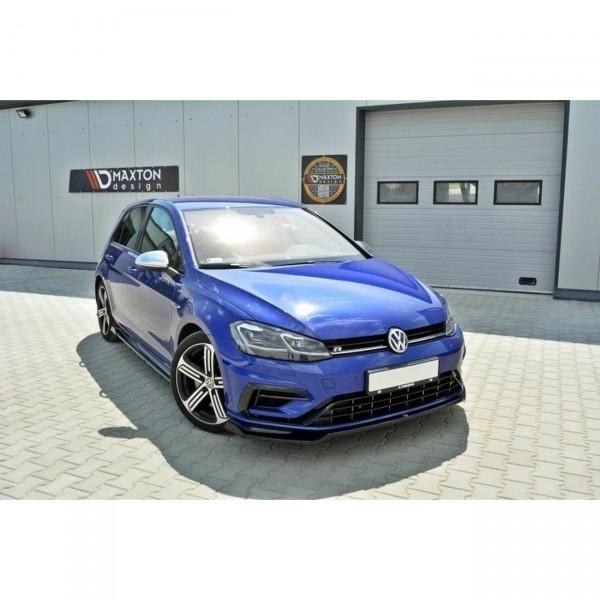 Front Ansatz passend für v.2 VW GOLF 7 R Facelift schwarz matt